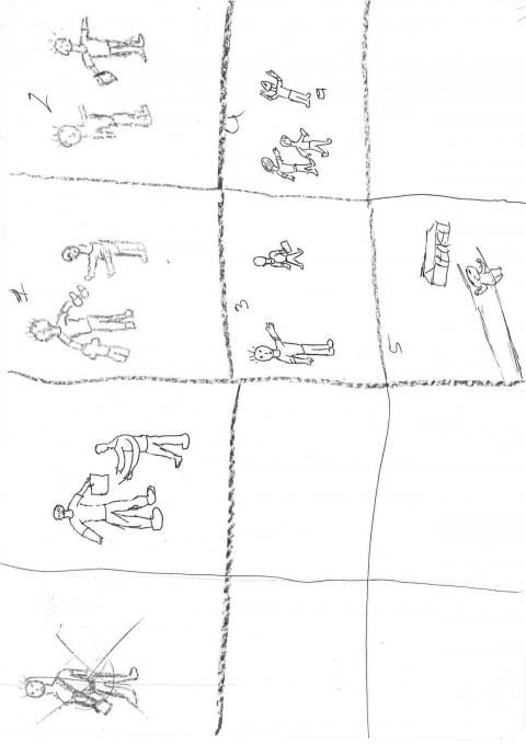 Drawing from a 12-year-old boy in Laos showing the things that make him happy. #smallvoices #respect #childfund