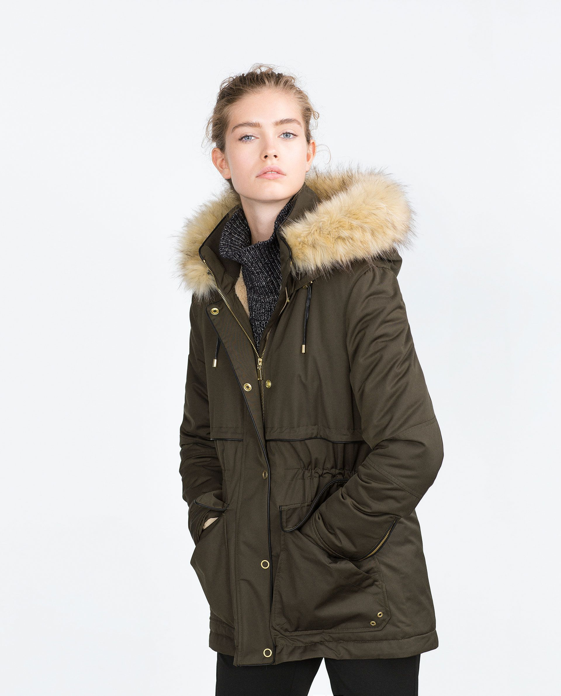 Manteau hiver femme grand col