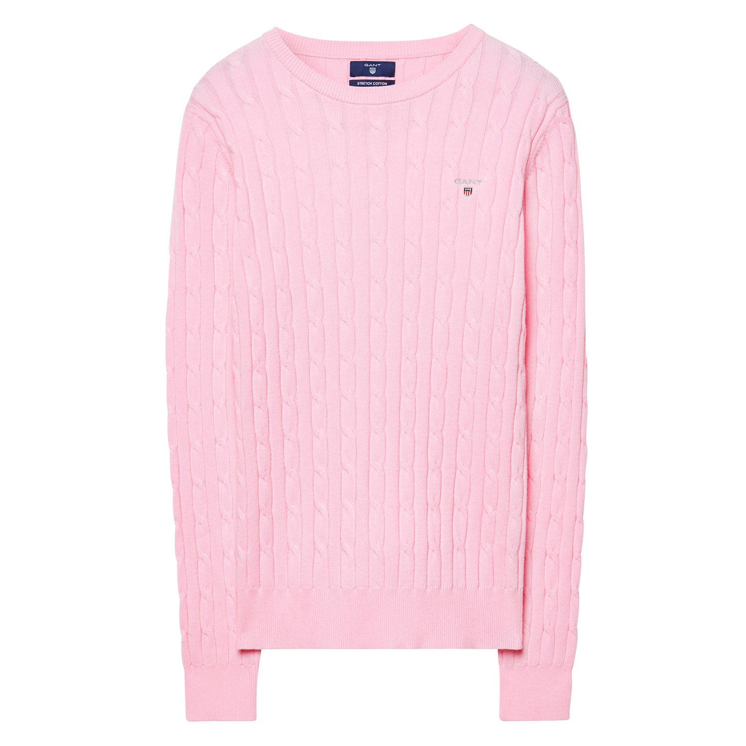 Gant Stretch Cotton Cable Crew Sweater Color: California