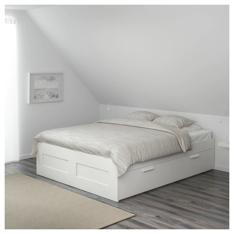 Brimnes Bedframe Met Opberglades Wit Lonset 140x200 Cm Koop Online Of In De Winkel Ikea Bed Frame With Storage Brimnes Bed White Bed Frame