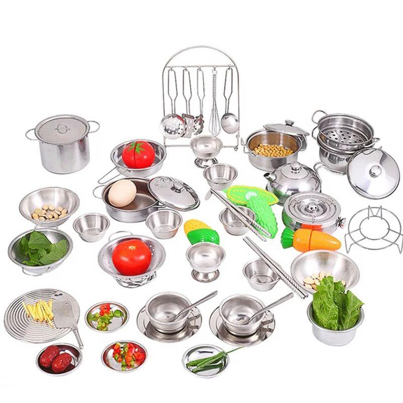 Stainless Steel Toy Kitchen Set Kitchen Sets For Kids Toy Kitchen Toy Kitchen Set
