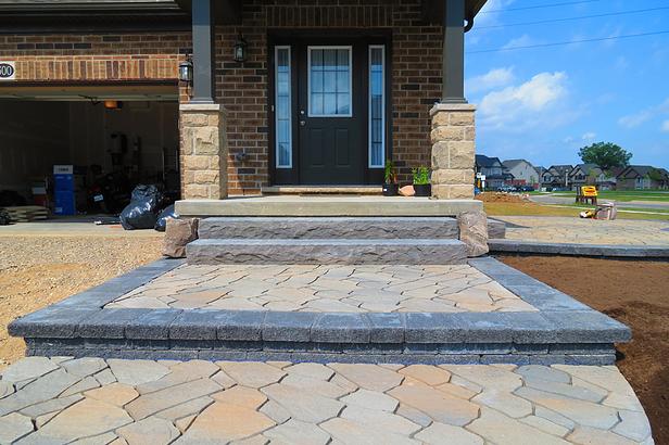 Pavers Vs Asphalt Driveway Design Concrete Concrete Pavers