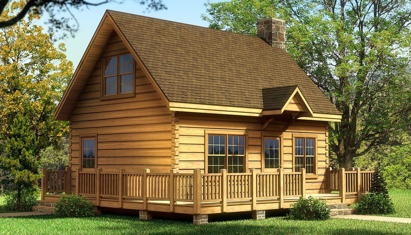 The alpine i is one of the many log cabin home plans for Lodge home designs
