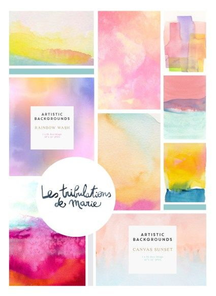 Creer Des Fonds Colores A L Aquarelle Aquarelle Fond De
