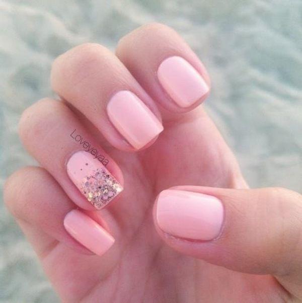 uñas rosadas sencillas | uñas | Pinterest | Sencillo, Diseños de ...