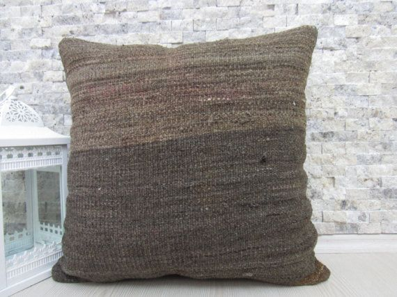 aztec natural color kilim pillow 20 x 20 bedding pillow boho decorative pillow home decor couch pillow turkey wool pillow tribal pillow