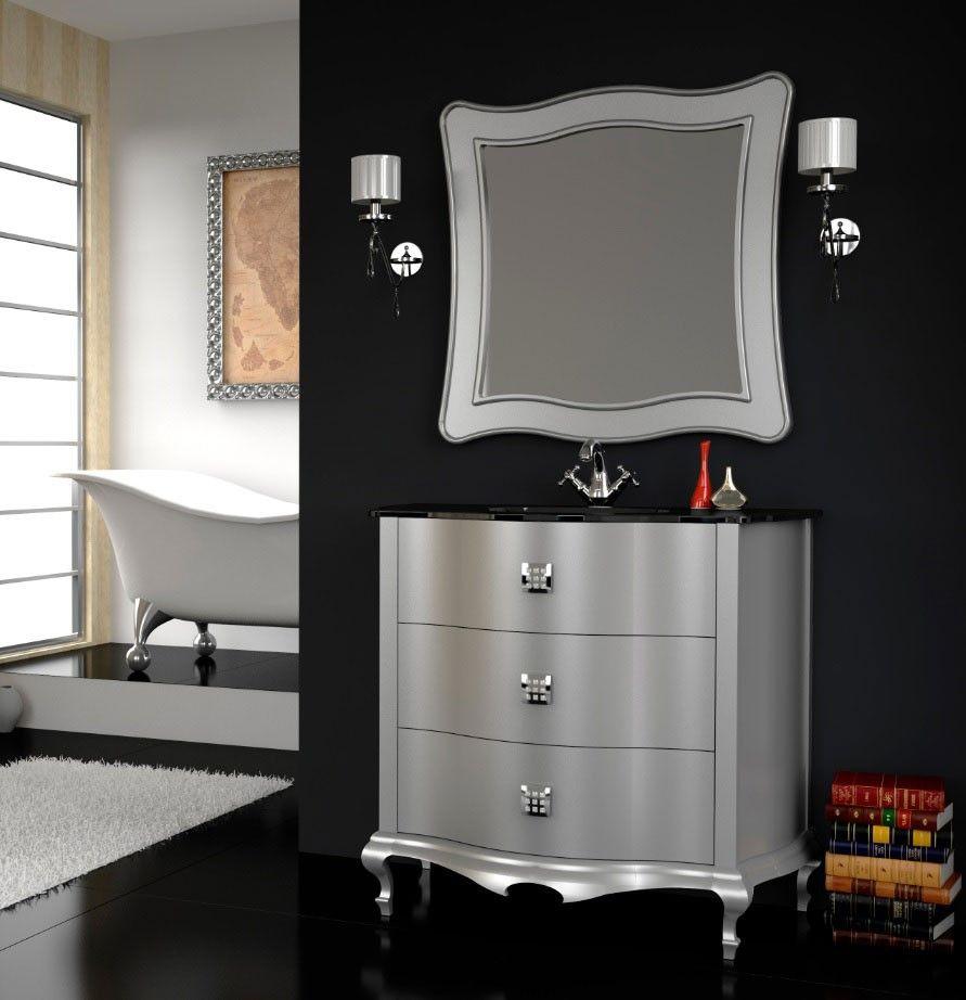 Mueble De Ba O De Lujo Roma Plata Brillo Muebles De Ba O  # Pequenos Gigantes Muebles