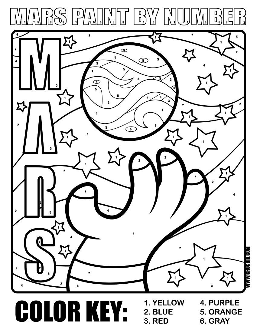 Planet Mars Printables Coloring Page ECEAP Planet