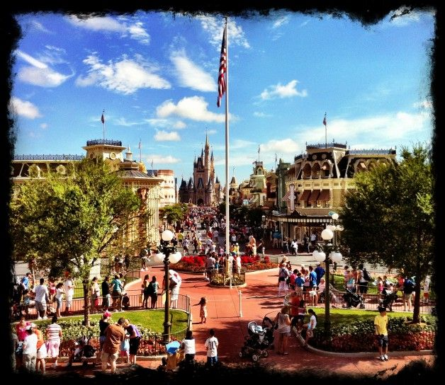 Happiness is crowd on Main Street