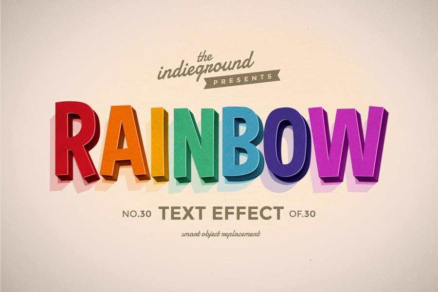 Retro Vintage Text Effect N 30 Indieground Design In 2020 Retro Text Vintage Text Text Effects