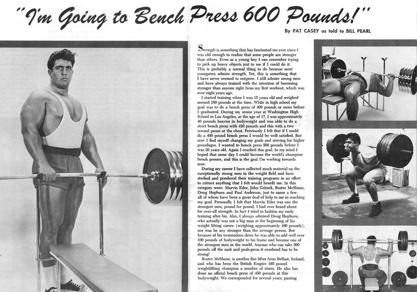 Pat Casey I M Going To Bench Press 600 Pounds Bench Press Casey Pressing