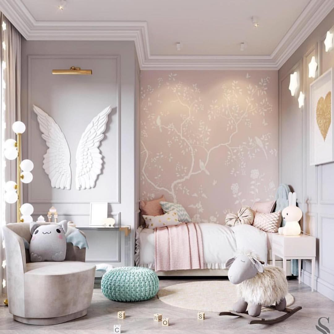 The Perfect Little Space For Your Baby Girl Studia 54 Baby Room Decor Girl Room Chandelier Bedroom