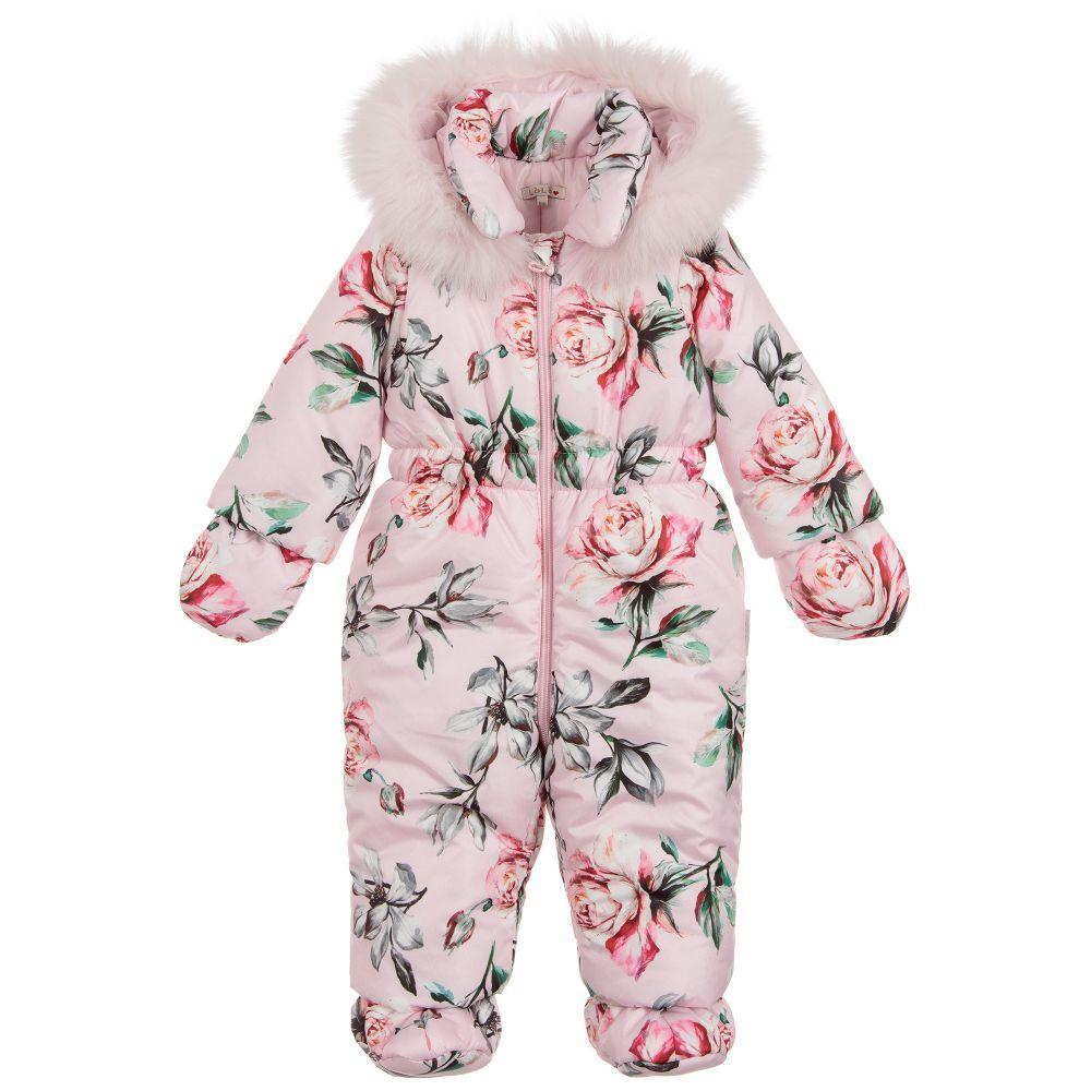 Baby Girls Pramsuit Snowsuit Winter Coat Warm Hooded Fully Lined Velour