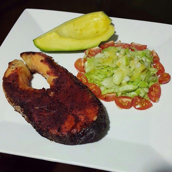 Me encanta un almuerzo con buena cantidad de comida y altamente nutritivo salm n glaseado con - Formas de cocinar salmon ...