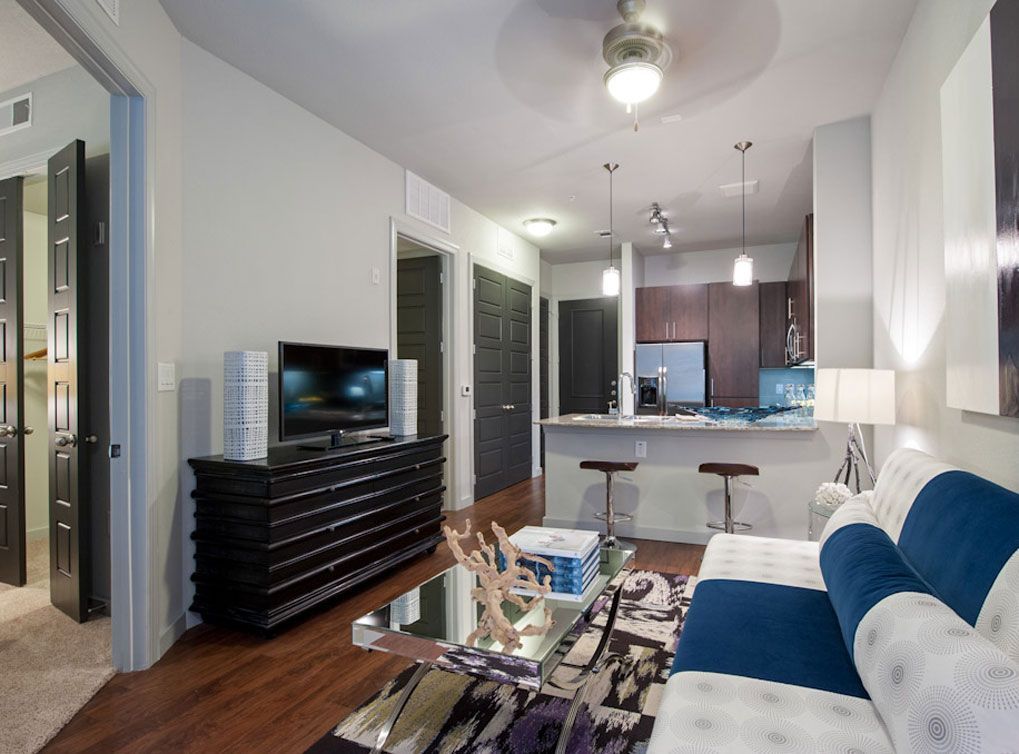 Model apartment at AMLI Uptown, a luxury apartment