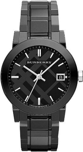 Burberry bu9181 34mm ceramic case black ceramic anti reflective sapphire men 39 s watch burberry for Anti reflective watches