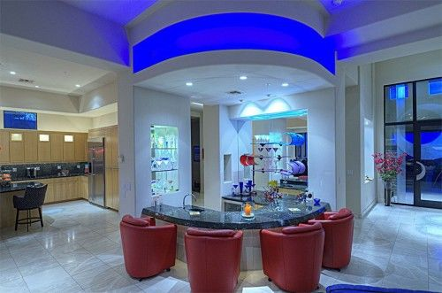 View This Great Contemporary Bar With High Ceiling Built In Bookshelf Scottsdale AZ The Home Was 2002 And Is 4126 Square Feet