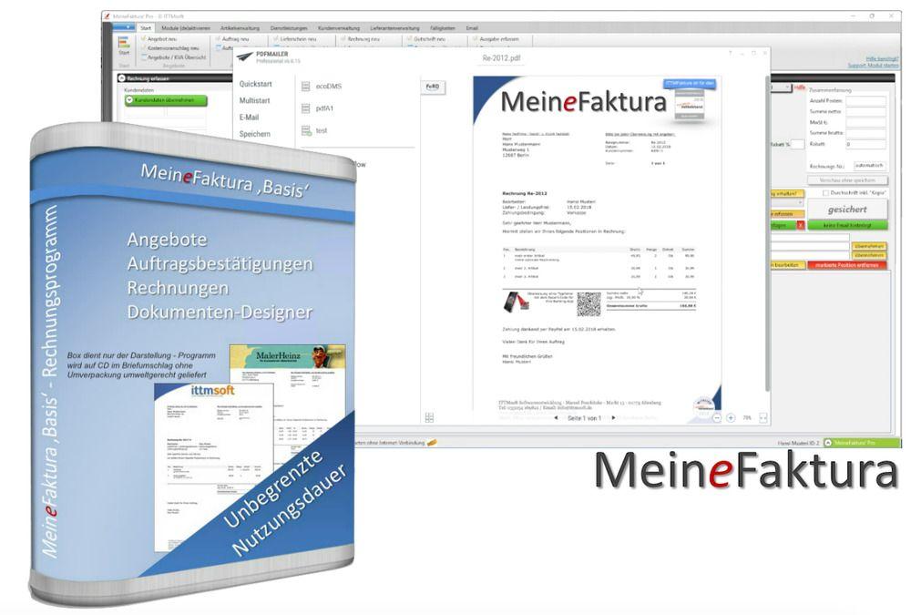 2x Rechnungsprogramm Rechnungssoftware Angebote Auftrãge Rechnungen