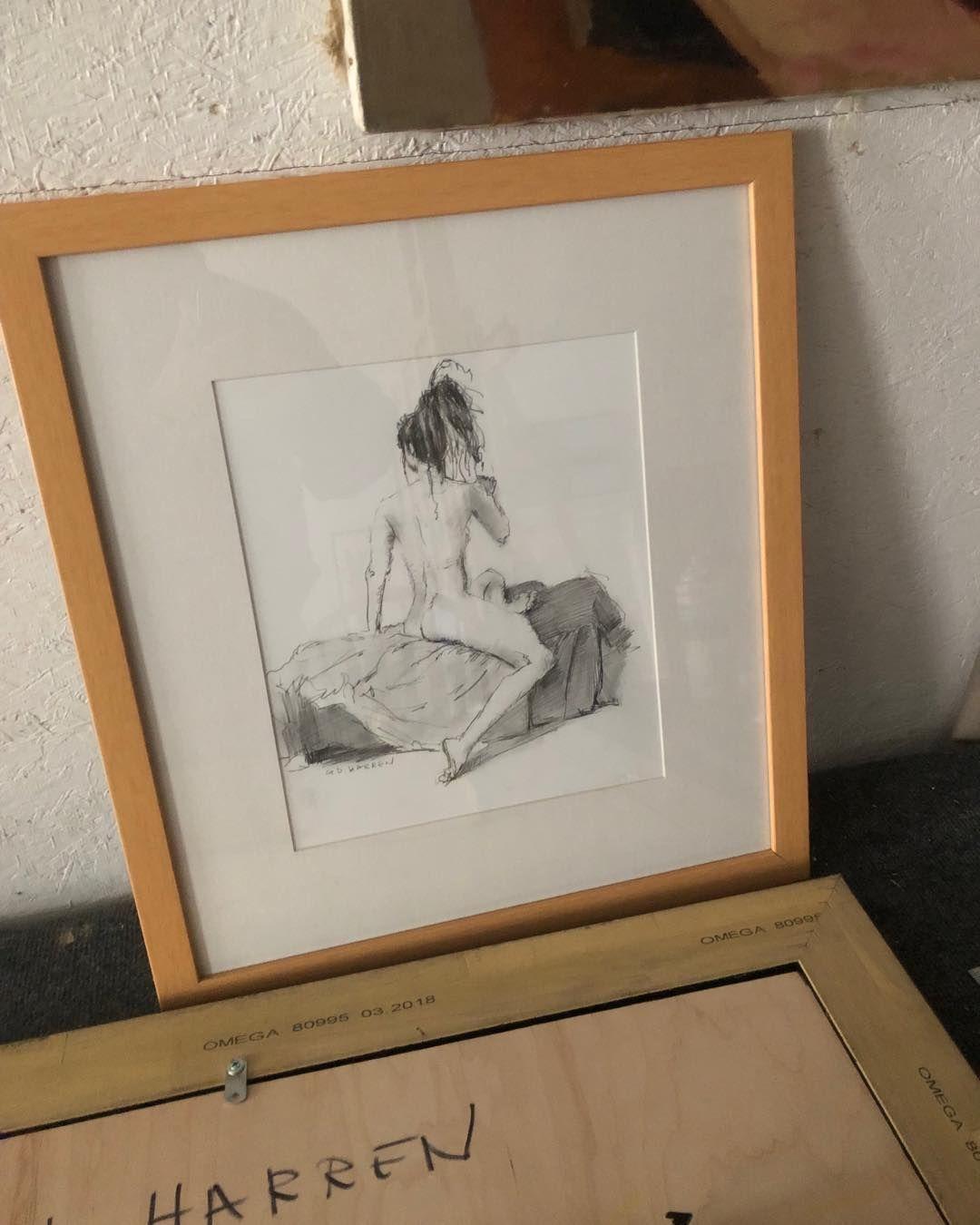 Framed pencil sketch on paper artistsofinstagram