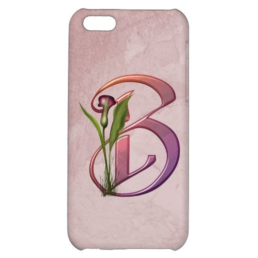 Colorful Calla Initial B Cover For iPhone 5C #zazzle #iphone5 #callalily #monogram