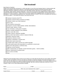 Get Involved Parent Volunteer Survey Parent Volunteers Parenting Parent Involvement