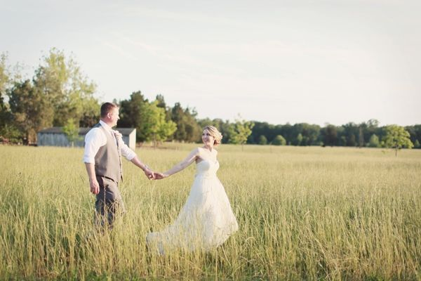 love this picture walking through a field.