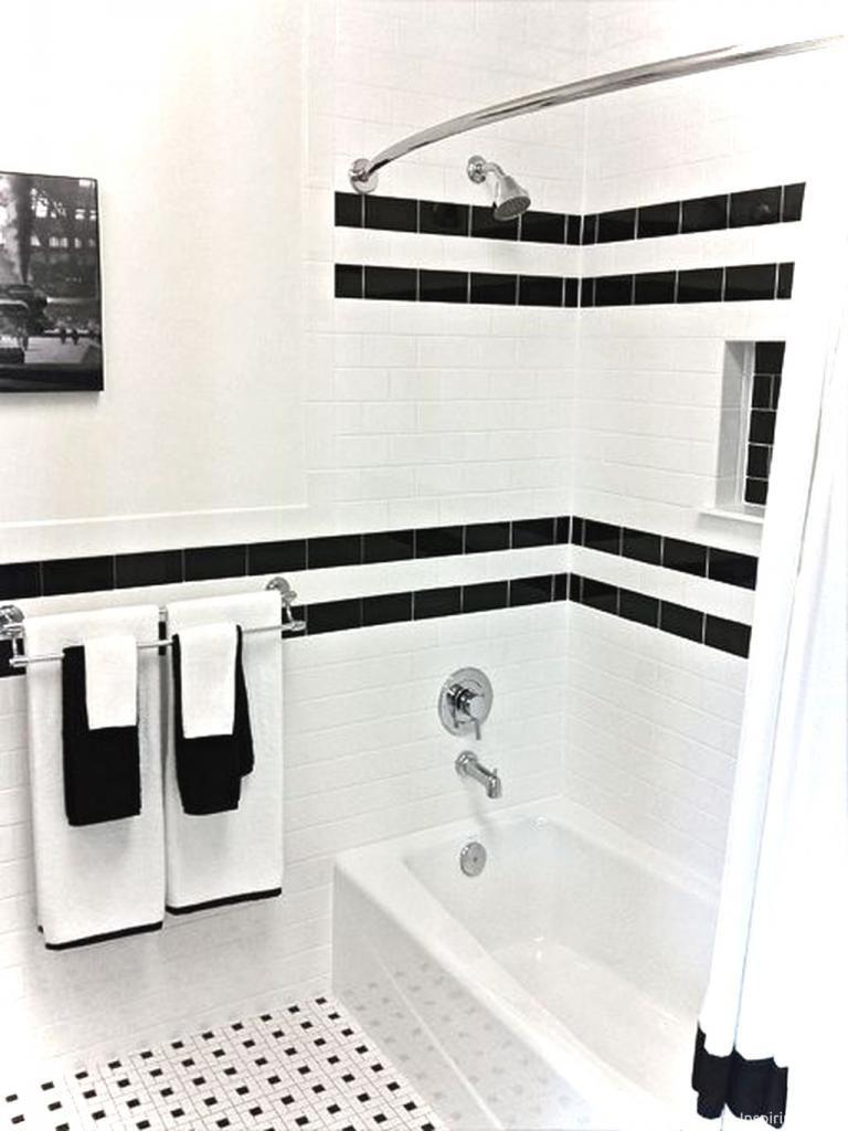 Elegant Black And White Bathroom Ideas Black And White Tiles