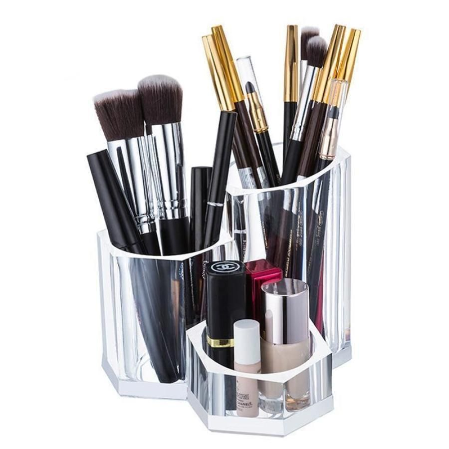 Photo of Clear Acrylic Makeup Brush Holder