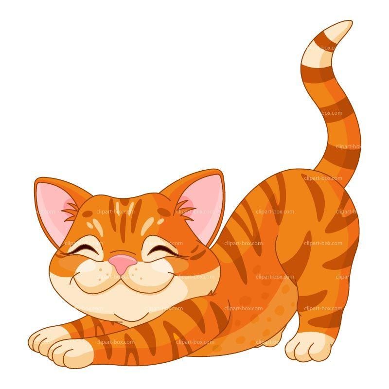 Cat pet. Clipart happy kitten royalty