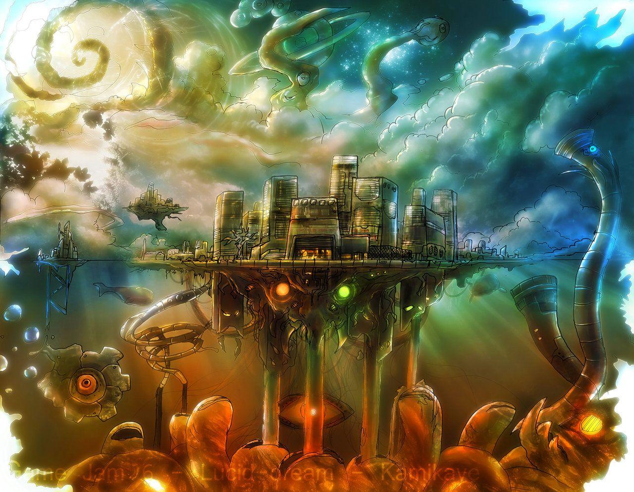Dream world (With images) Dream art, Japanese art modern