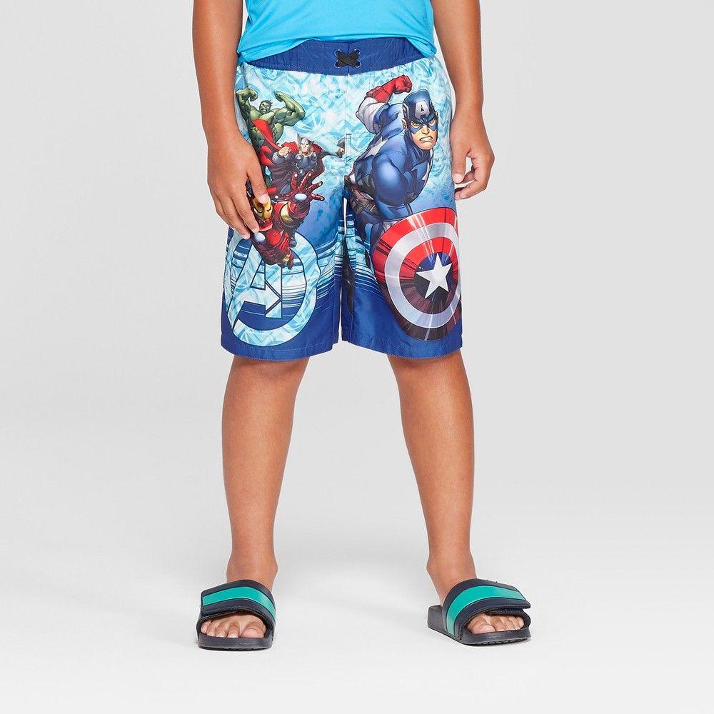 13955f51dc Boys' Avengers Swim Trunks - Blue XS | Products | Boys swim trunks ...