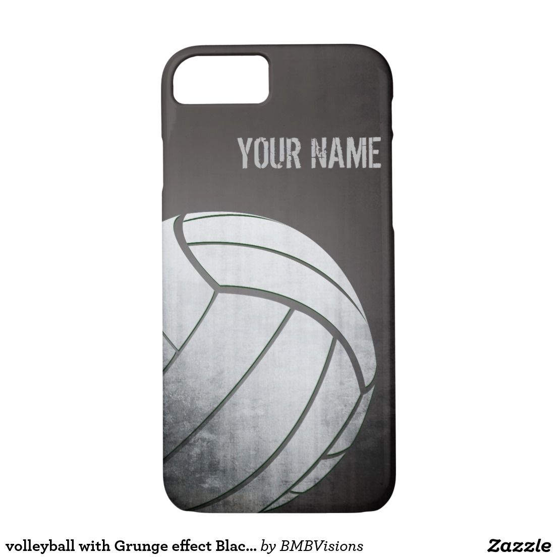 Volleyball With Grunge Effect Black Shade Case Mate Iphone Case Zazzle Com In 2020 With Images Custom Cell Phone Case
