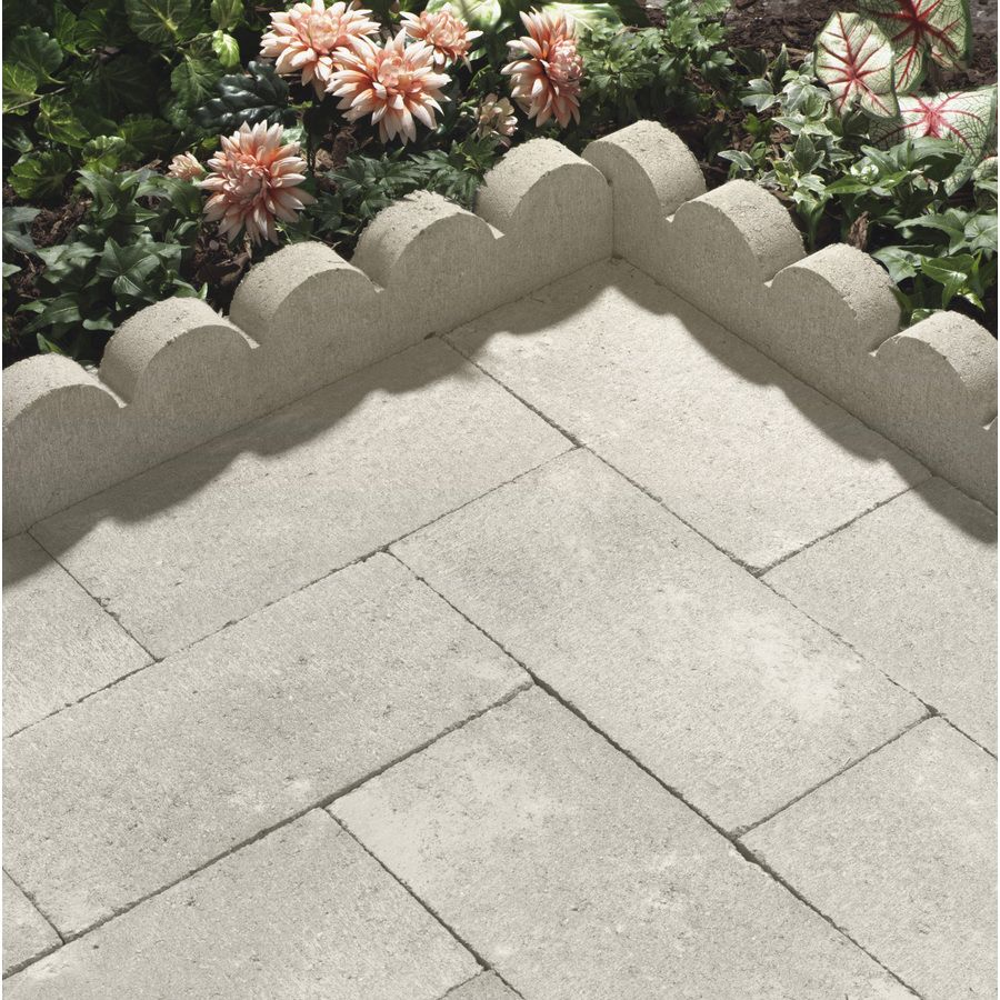 Shop White Scallop Edging Stone Common 6 In X 16 In Actual Lowes Landscaping Concrete Landscape Edging Plastic Garden Edging
