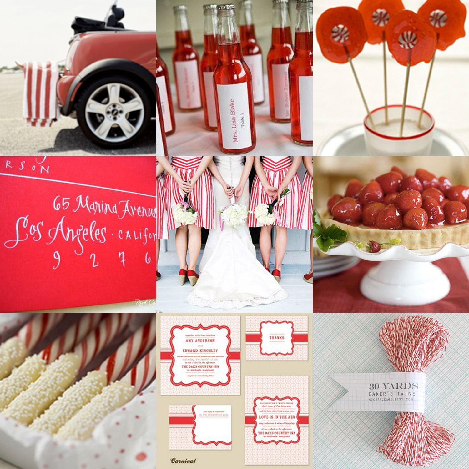 For A Bold, Fun Valentine's Wedding