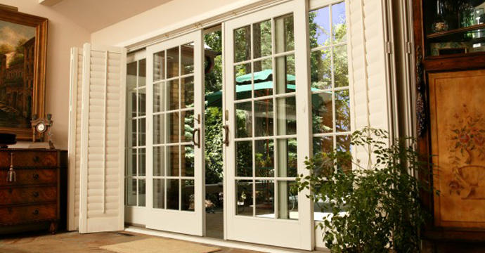 Screen For Sliding Glass French Patio Door And White Plantation Shutter.  Gorgeous Designs Of Screen For Sliding Glass Door. Custom Decor Awesome  Home ...