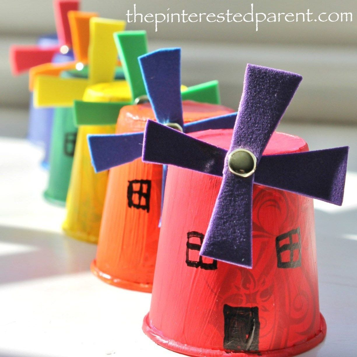 Dixie Cup Windmills – The Pinterested Parent