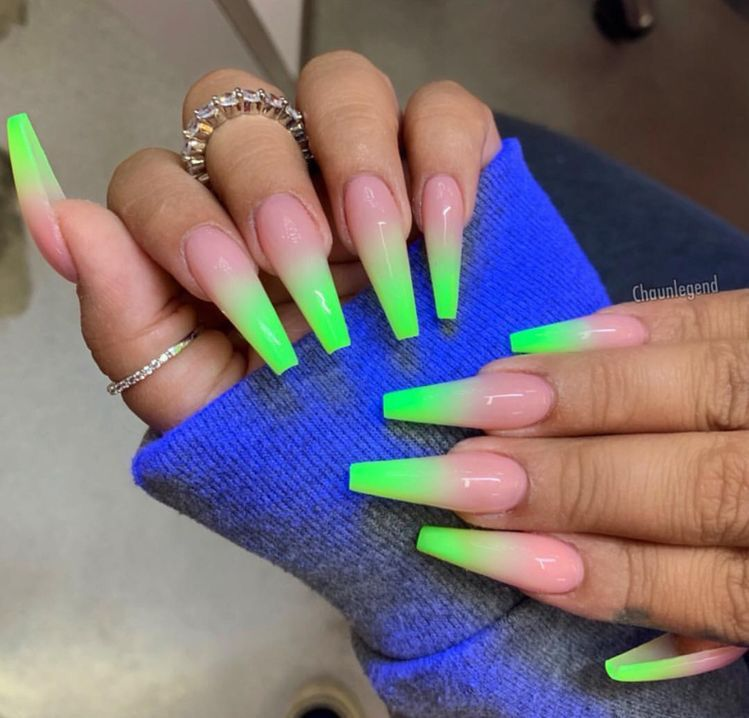 Follow Sunnyd Baby For More Green Nails Shiny Nails Designs Ombre Nails