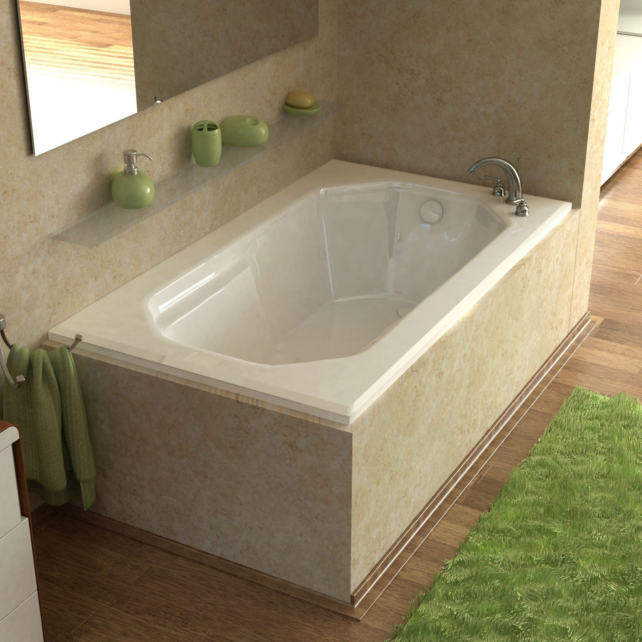 Atlantis Whirlpools 3660M Mirage 36 x 60 Rectangular Soaking Bathtub ...