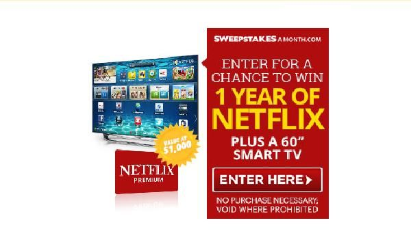 Enter For Your Chance To Win 1 Year Of Netflix Plus A 60 Smart Tv