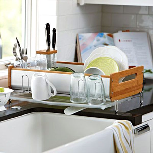 Create A Kitchen That S Cool Calm And Functional: Simplehuman Bamboo Dish Rack Review