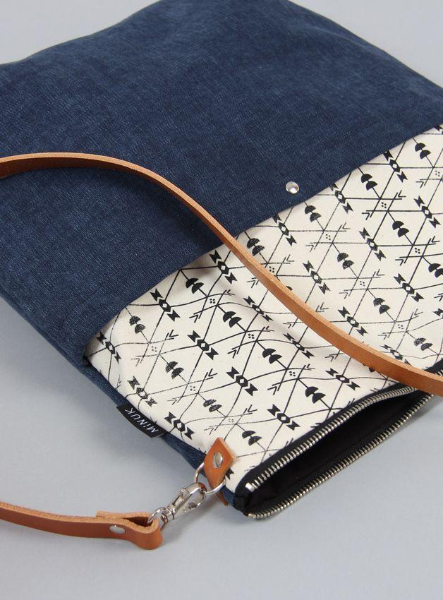 schultertaschen tasche klara 7 dunkelblau ein designerst ck von minuk bei dawanda n hen. Black Bedroom Furniture Sets. Home Design Ideas