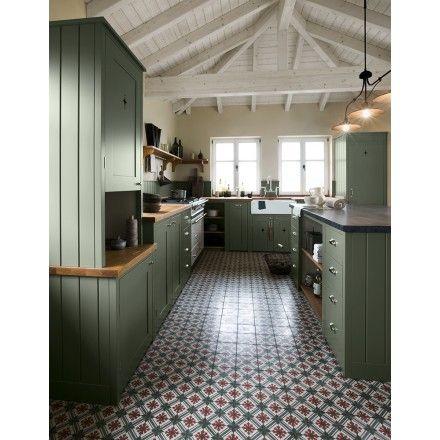 Kleine Zementmosaikplatten mit floralem Muster 51007-32\/141 - kleine l küche