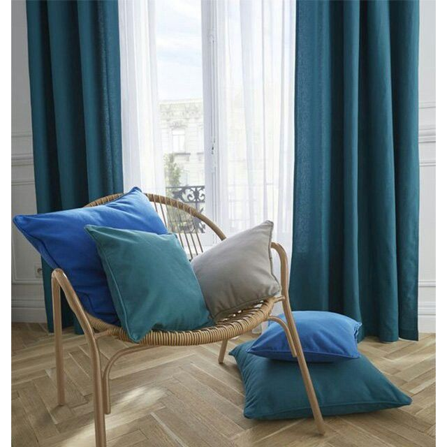 rideaux bleu canard chambres bleu canard pinterest. Black Bedroom Furniture Sets. Home Design Ideas