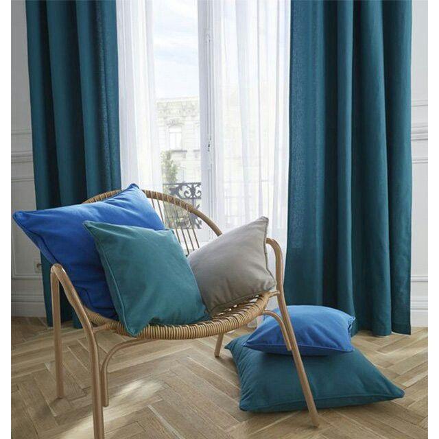 rideaux bleu canard rideau bleu
