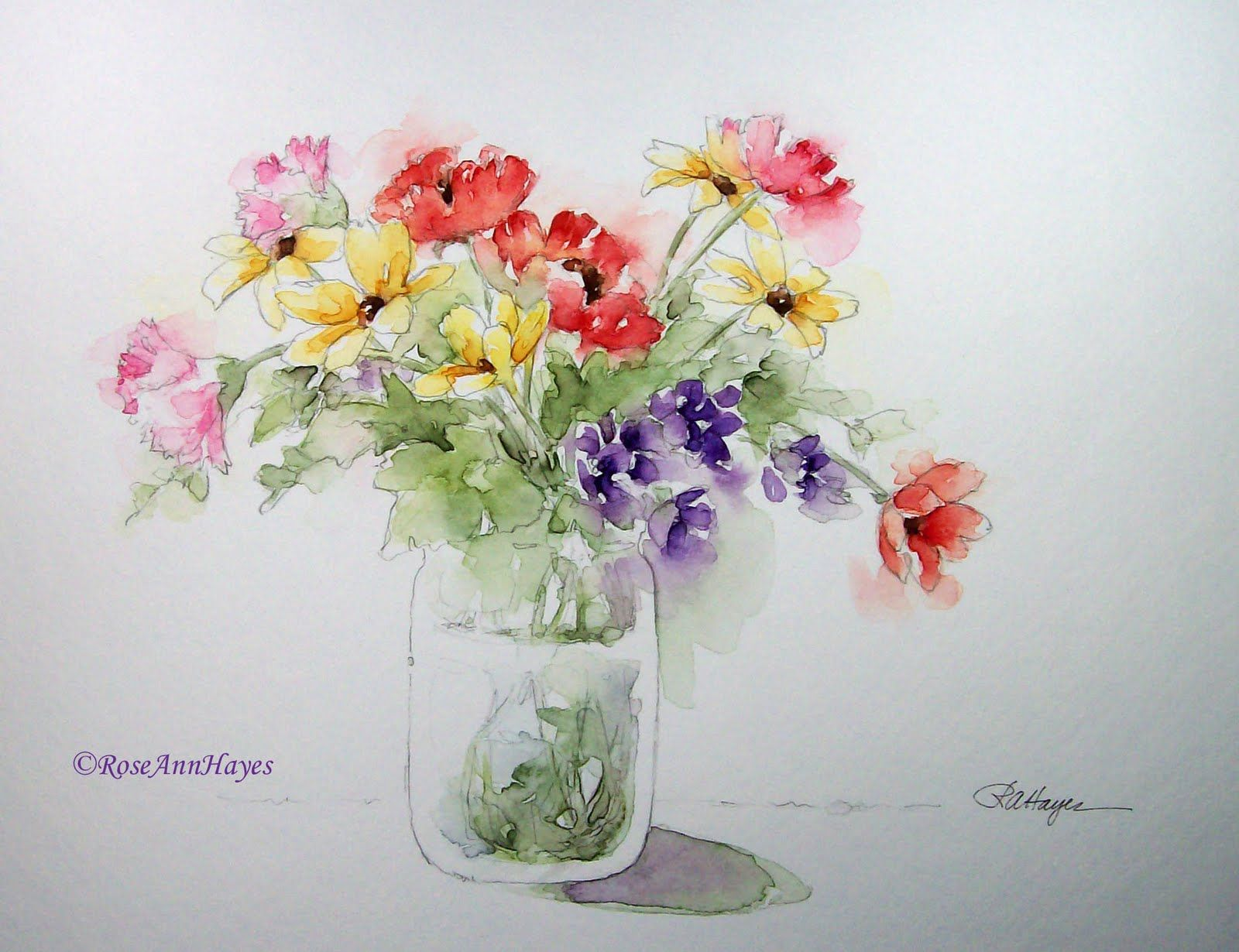 Easy Watercolor Paintings