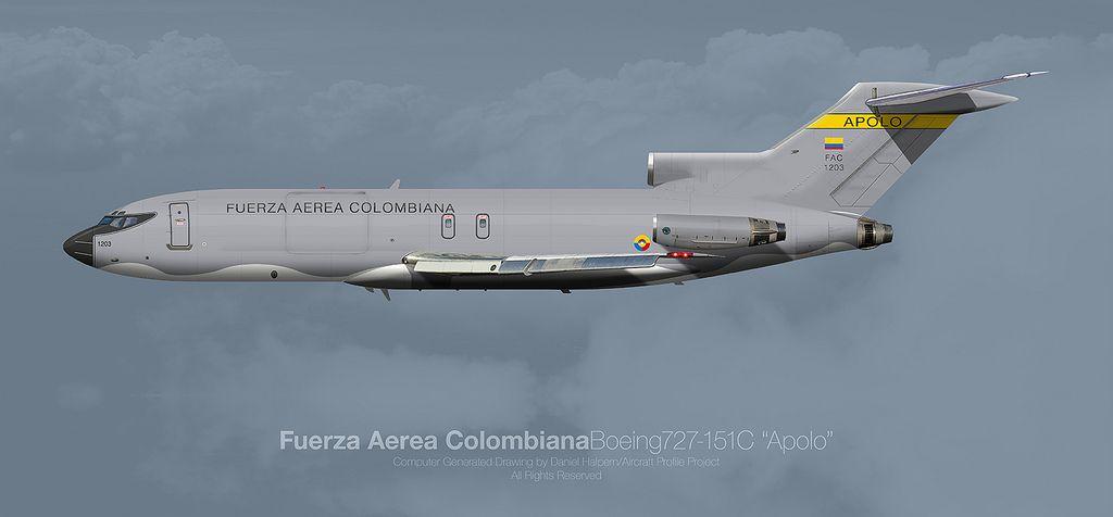 Fuerza Aerea Colombiana Boeing 727 151C Apolo