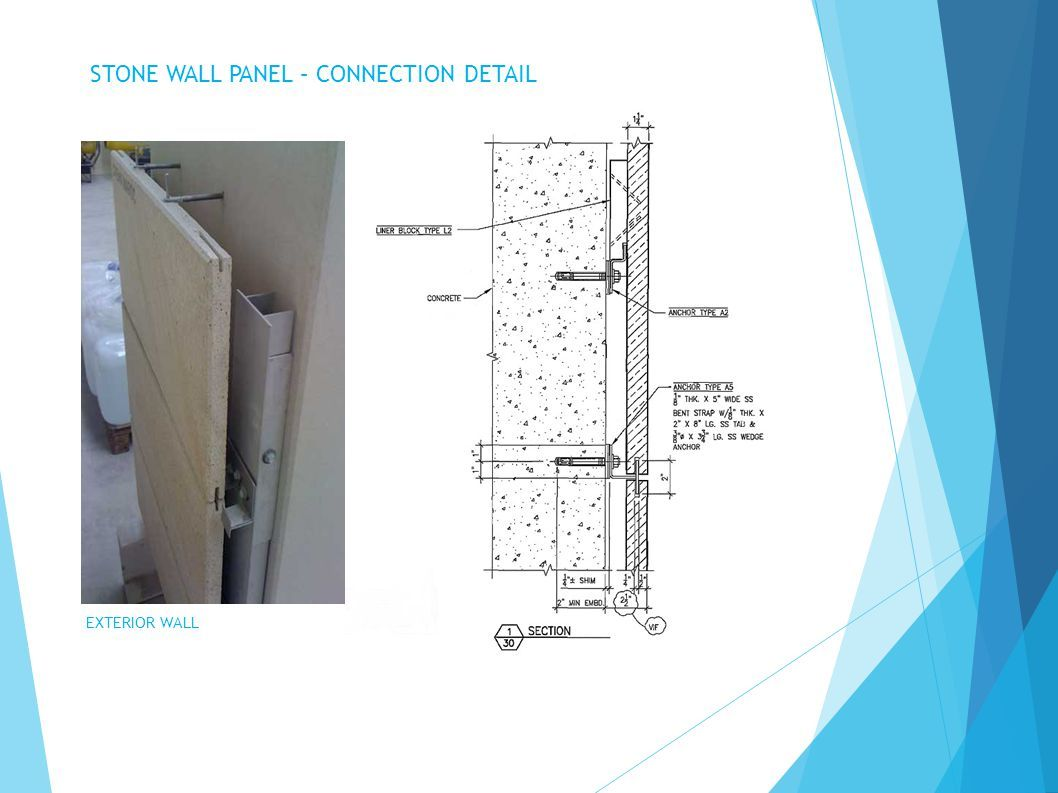 Stone Wall Panel Connection Detail Jpg 1058 793 Precast Concrete Panels Stone Veneer Panels Stone Wall Panels
