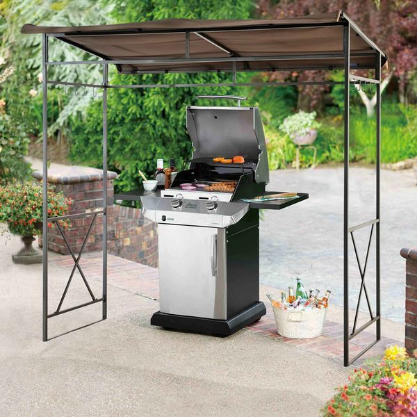 Barbecue Grill Canopy Shade Gazebo Outdoor Patio Tent Backyard Shelter BBQ Steel & Barbecue Grill Canopy Shade Gazebo Outdoor Patio Tent Backyard ...