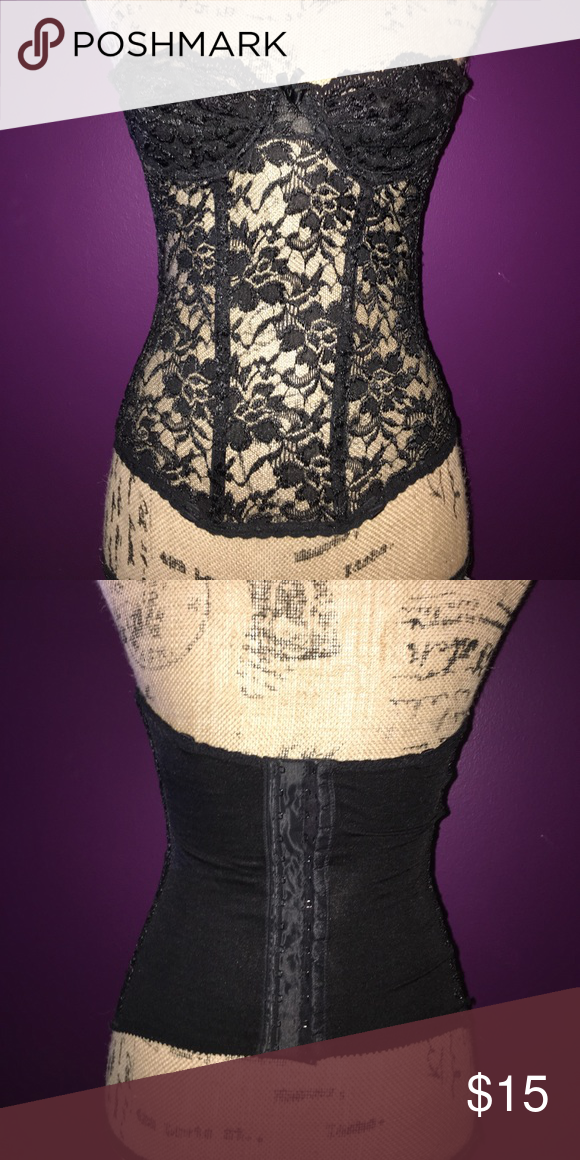 Very sexy strapless Black lace corset lingerie Very sexy strapless Black lace corset lingerie size 34A-34C **MAKE ME AN OFFER** Intimates & Sleepwear Bras