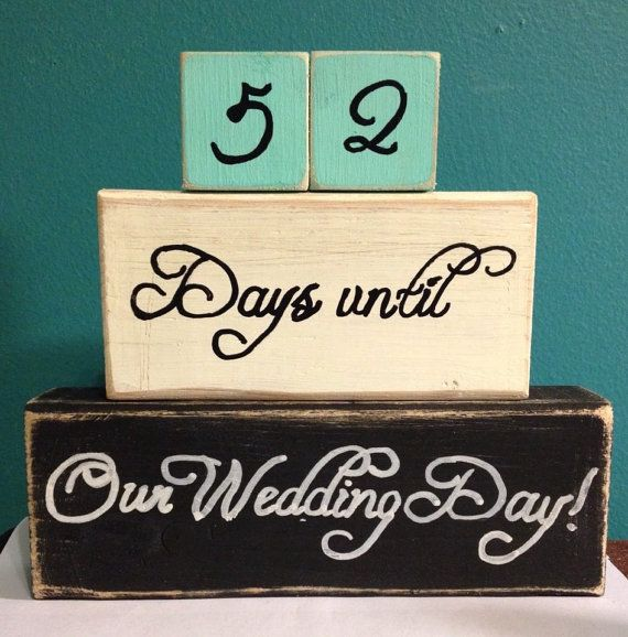 Wedding Countdown Gifts For Bride: Custom Wedding Countdown Bride To Be Gift By